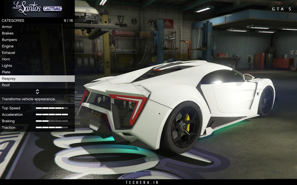 ابرخودروی Lykan Supersport در GTA5