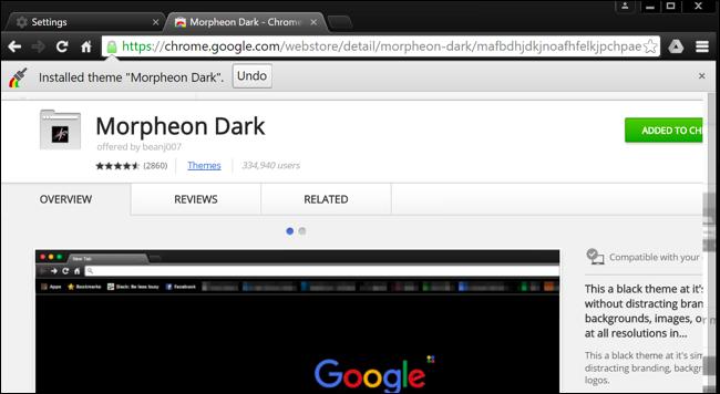 نصب تم تیره برای کروم، فایرفاکس و سایر برنامه های کاربردی