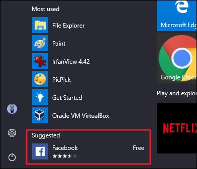 حذف برنامه های پیشنهادی از لیست برنامه های کاربردی شما