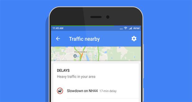 اپلیکیشن نقشه گوگل برای اندروید میانبری برای نمایش ترافیک اطراف اضافه کرده است