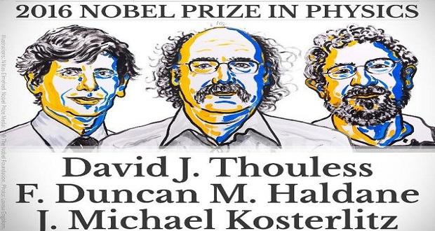 نوبل فیزیک 2016 را سه دانشمند بریتانیایی به خود اختصاص دادند