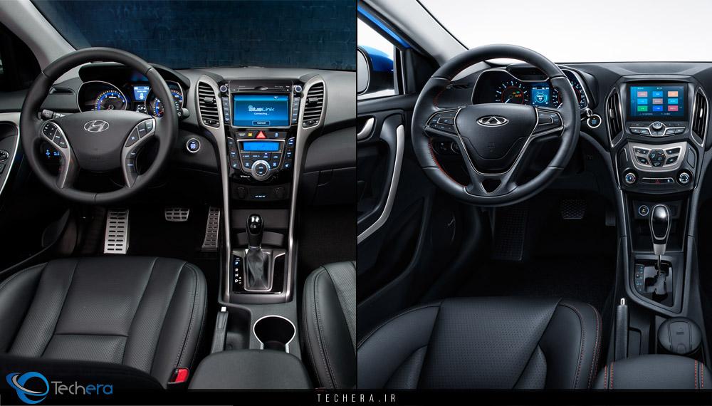 شباهت طراحی داخلی خودرو آریزو 5 با هیوندای النترا
