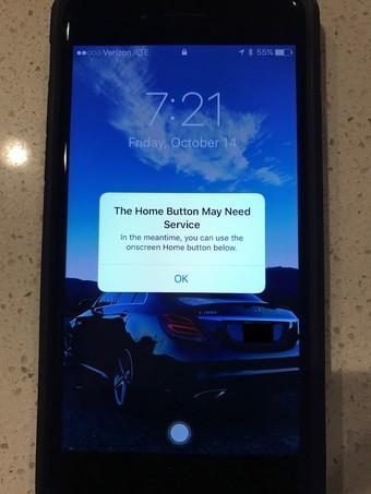 خراب شدن دکمه خازنی خانه در موبایل آیفون 7