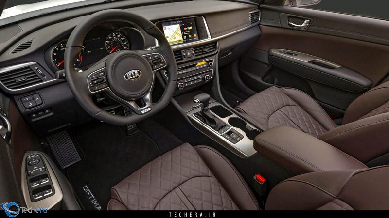 نمایی از کابین خودرو کیا اپتیما 2016
