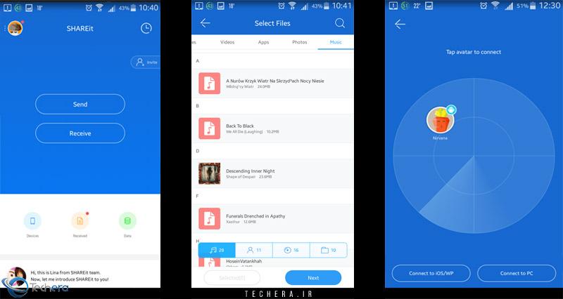 نرم افزار شیر ایت | مراحل ارسال فایل ها