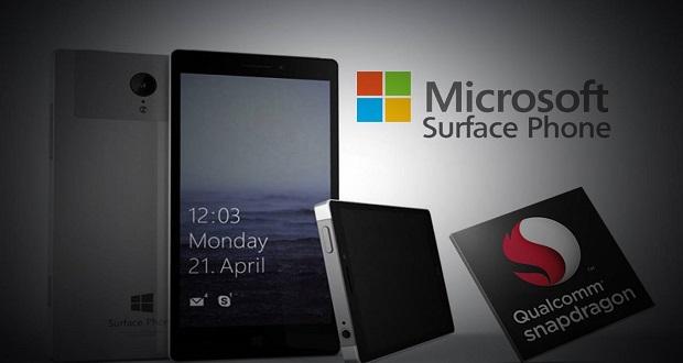 گوشی های سرفیس فون مایکروسافت دارای پردازنده اسنپدراگون 835 کوالکام خواهند بود