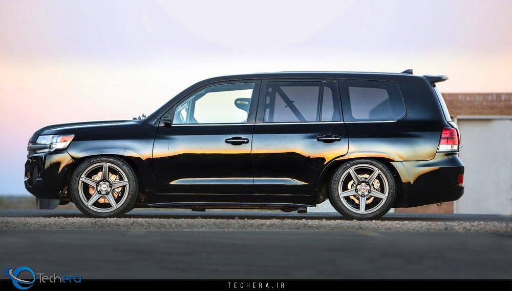 نمای جانبی تویوتا لندکروزر توربو 2000 اسب بخاری، سریعترین SUV جهان