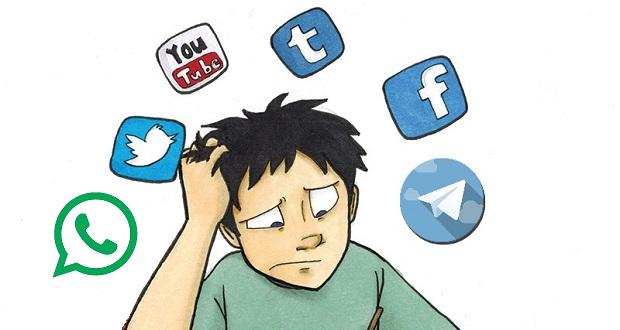 گم شدن در رسانه های اجتماعی