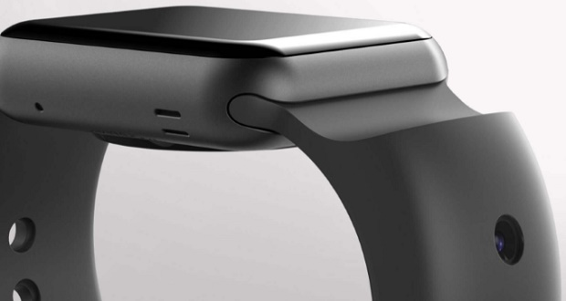 نوعی بند برای ساعت اپل که در خود دو دوربین جای داده است