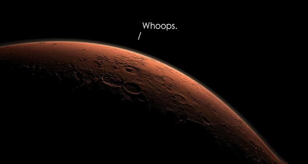 کشف علت سقوط کاوشگر شیاپارلی