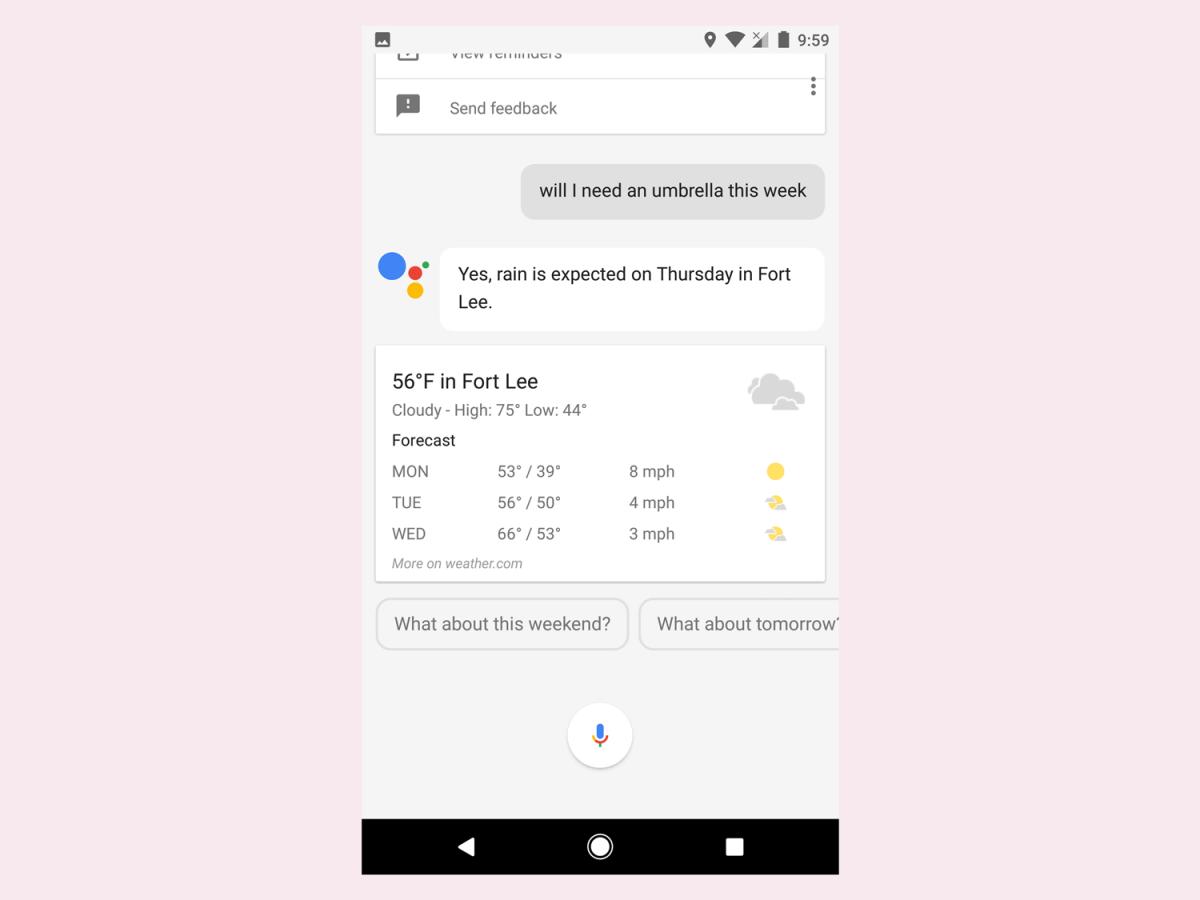 umbrella-google-assistant