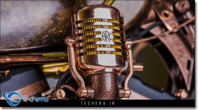 طراحی محفظه فیلتر هوا موتورسیکلت هارد راک کافه به شکل میکروفون های قدیمی و کلاسیک