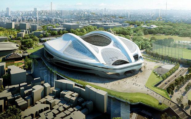 کانسپتی از طراحی زاها حدید برای استادیوم المپیک 2020 توکیو