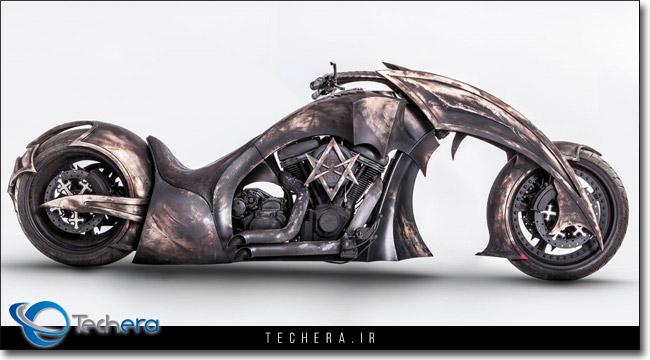 موتورسیکلت مدل بهموث ساخته شده برای گروه Blackened Death Metal لهستان Behemoth