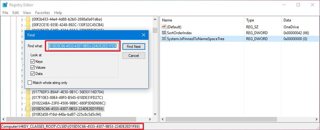 نحوه حذف وان درایو در ویندوز 10 از فایل اکسپلورر