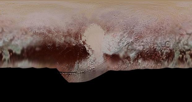 تصویر موزاییکی دیدنی ناسا از پراکندگی های پلوتون