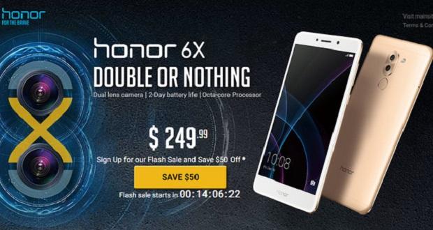 گوشی آنر 6 ایکس با قیمت 199 دلار از امروز در دسترس خواهد بود