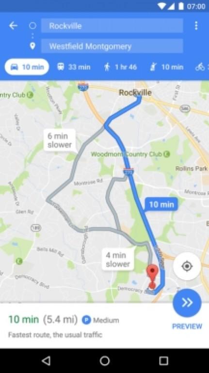 دسترسی پارکینگ گوگل