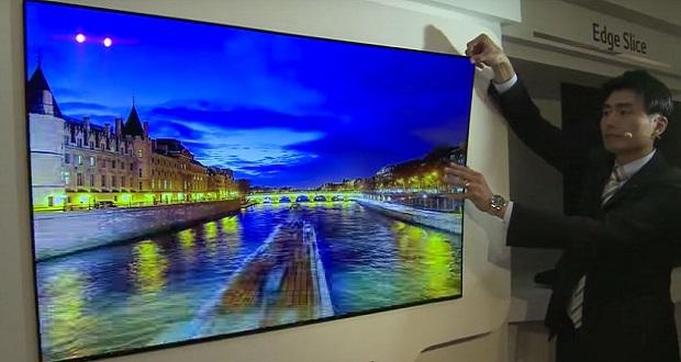تلویزیون اولد ال جی W7 ؛ تلویزیون مدولار با نمایشگری به نازکی یک کاغذ دیواری!