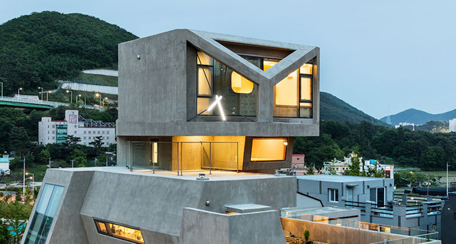 طراحی جالب خانهای با الهام از جغد در کره جنوبی