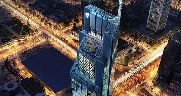 برج Varso ، چهارمین آسمان خراش اروپا در لهستان ساخته می شود