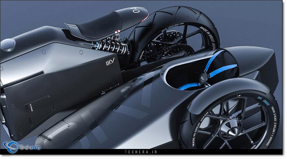 بخش عقبی موتورسیکلت مفهومی سامورایی