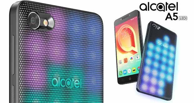 گوشی آلکاتل A5 با بدنهای پوشیده از LED رونمایی شد؛ جذاب و متفاوت