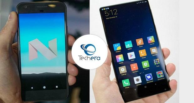 مقایسه گوشی های گوگل پیکسل و شیائومی می میکس