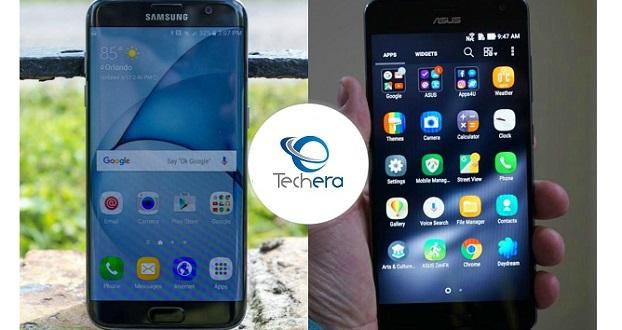مقایسه گوشی های گلکسی اس 7 اج و ایسوس زنفون AR