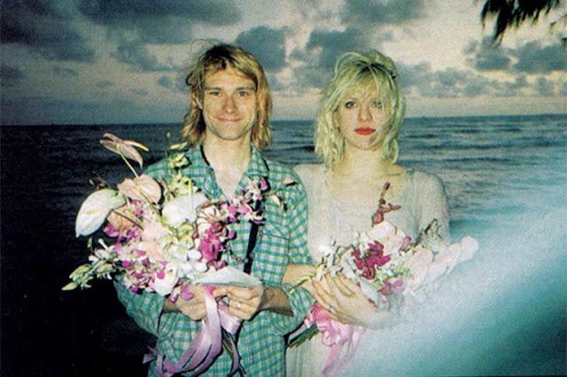 کرت کوبین و کورتنی لاو در مراسم ازدواج در سال 1992 میلادی