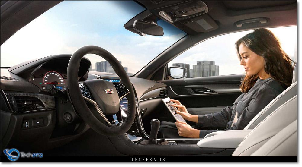 نمای کابین کادیلاک ATS ارائه شده در نمایشگاه خودروی شیکاگو سال 2017 میلادی