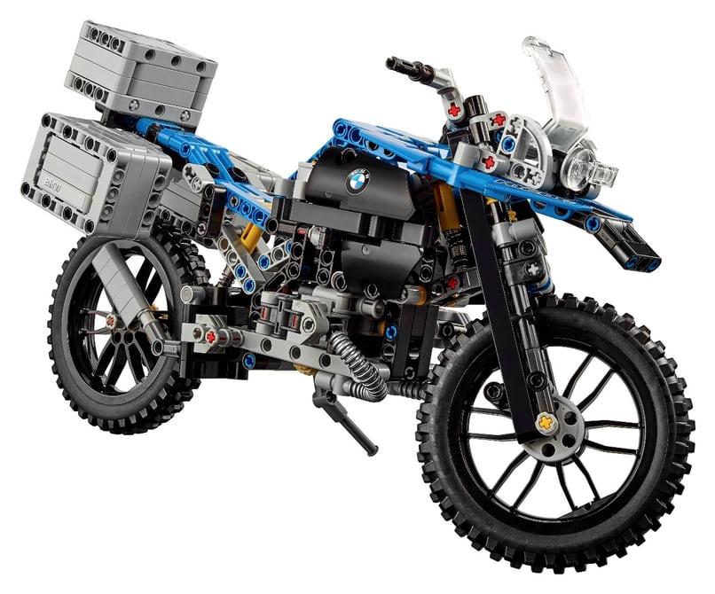 نمونه ساخته شده از آجرهای لگو بر اساس موتورسیکلت R1200 GS