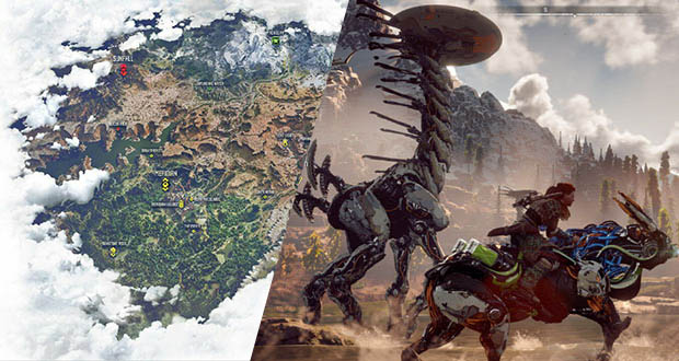 نقشه لو رفته بازی Horizon Zero Dawn نشان میدهد که محیط بازی چقدر بزرگ است!