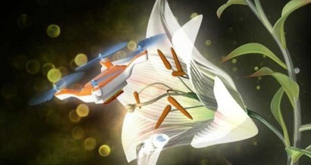 پهپادهای کوچکی که مثل زنبور گرده افشانی میکنند