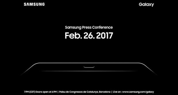 تصویری از دعوتنامه سامسونگ برای کنفرانس مطبوعاتی MWC 2017 منتشر شد