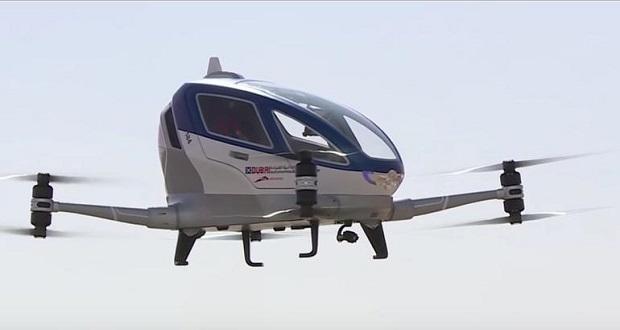 تاکسی های خودران پرنده در آسمان دبی!
