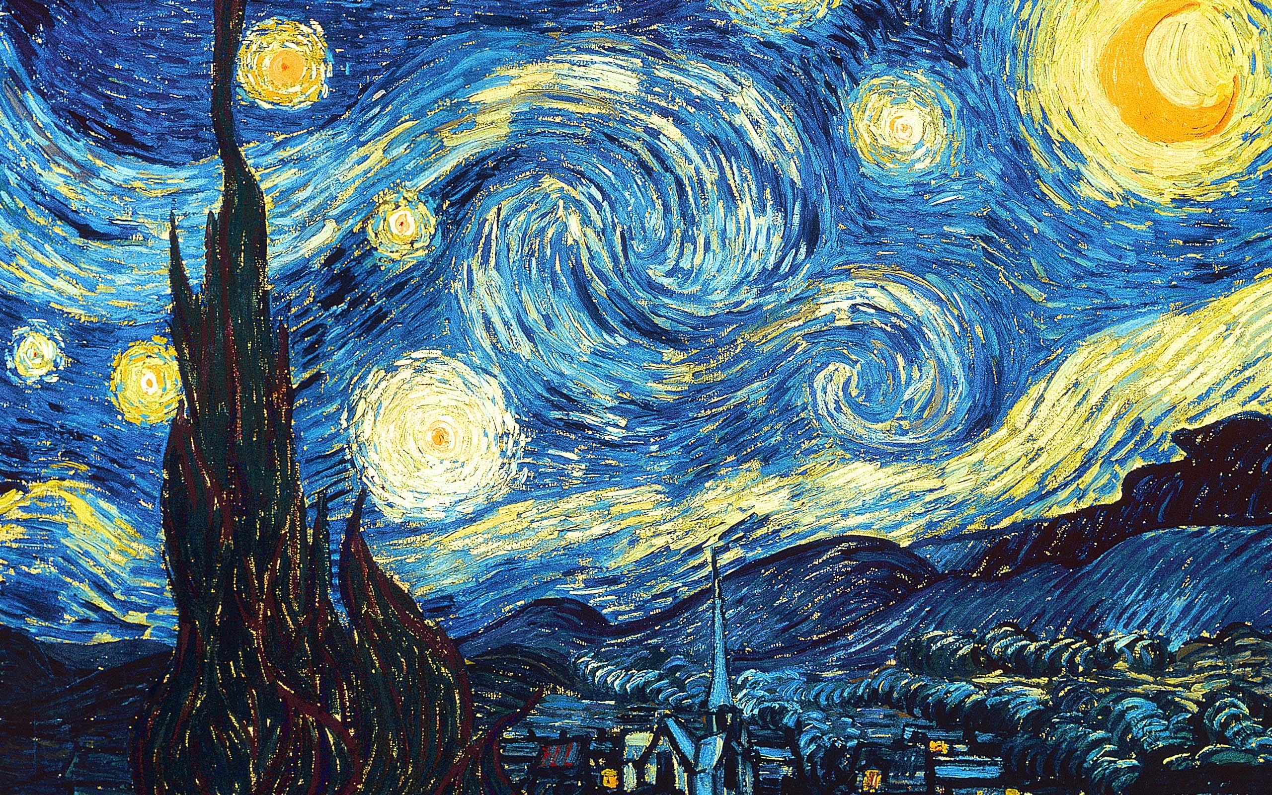 نقاشی شب پر ستاره ون گوگ