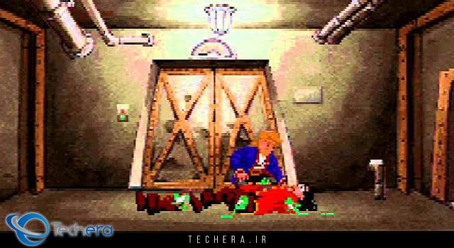 صحنه پایانی بازی Monkey Island 2 و برملا شدن هویت اصلی لی چاک
