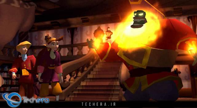نمایی از بازی Escape from Monkey Island