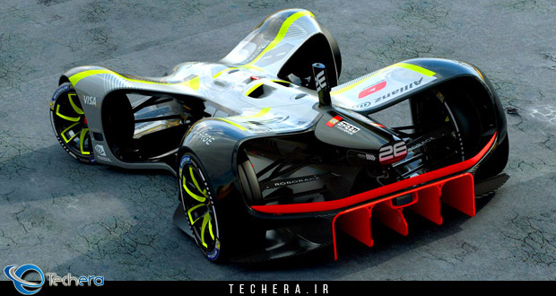 نمای عقبی خودروی خودران مسابقات روبوریس سال 2017 میلادی