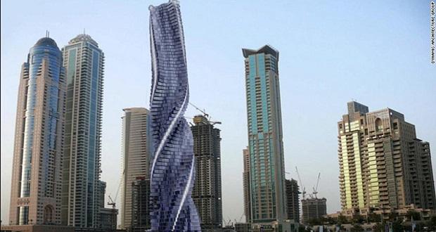 برج داینامیک دبی ، نخستین برج چرخشی و متحرک جهان