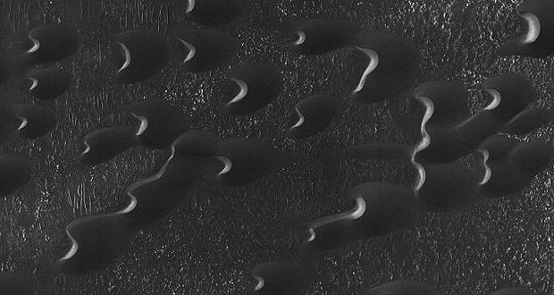 تصویر جدید ناسا: تپه های شنی عجیب مریخ