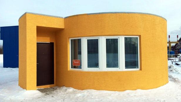 خانهای ساخته شده توسط یک پرینتر سه بعدی کوچک و با هزینه کم