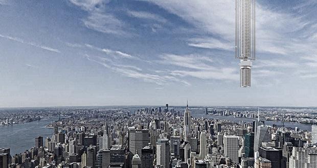 طرح پیشنهادی عجیب شرکت معماری Clouds AO برای ساخت برجی معلق از یک سیارک