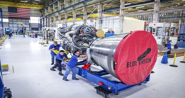 مونتاژ آخرین موتور موشک بلو اوریجین به پایان رسید