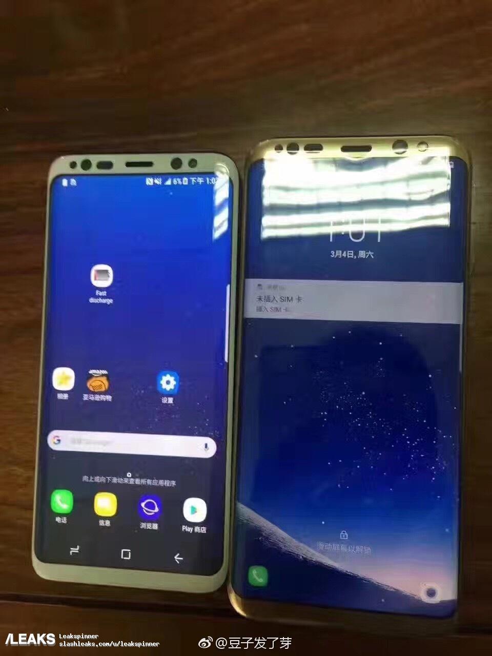 تصاویر جدیدی از گوشی هوشمند گلکسی S8 و گلکسی S8 پلاس منتشر شده است که برخی از مشحصات سخت افزاری آن را نیز همچون صفحه نمایش همیشه روشن درگلکسی S8 نشان میدهد