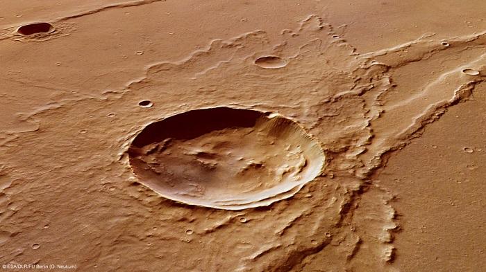 دهانه برخوردی به نام ملاس درسا در مریخ و نواحی اطراف آن، نشاندهنده، وجود تاریخچه غنی زمینشناسی در این ناحیه است.