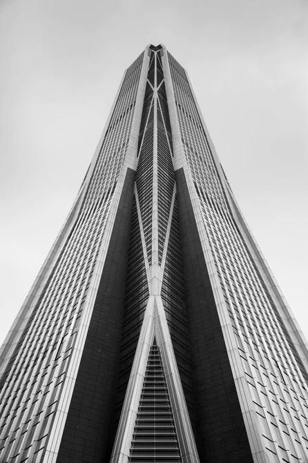 نمای مرکز تجارت جهانی پینگ ان از نزدیک