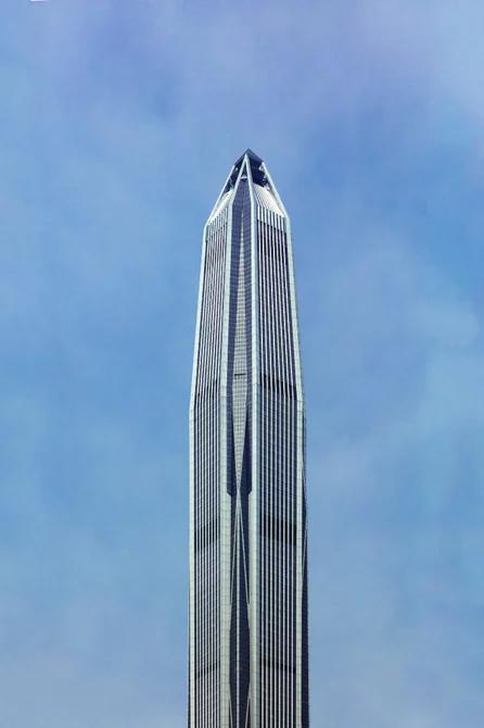 نمای مرکز تجارت جهانی پینگ ان، چهارمین برج بلند