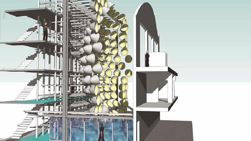 انرژی تولید شده در سیستم خورشید مصنوعی برای استخراج هیدروژن از بخار آب مورد استفاده قرار میگیرد.